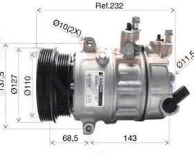 Compressor Jetta 2.5 Original Sanden Original Frete Gratis