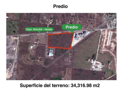 Imagen 1 de 6 de Uman Terreno De 3.5 Ha Sobre Carretera Kinchil