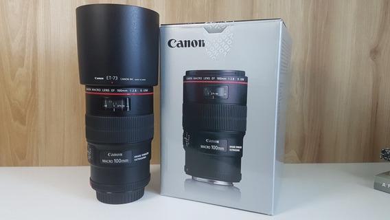 Lente Canon 100mm Macro Is Usm F2.8 L