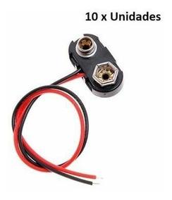 10 Clips Plugs Conectores De Bateria 9v - Frete Grátis