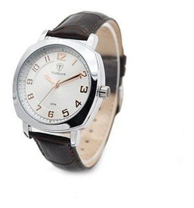 Relógio Feminino Tuguir Analógico 5015 Marrom Presente Luxo