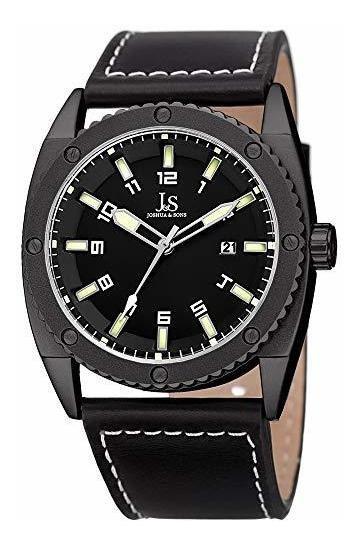 Joshua & Sons Jx120 Hombres De Cuero? ¿reloj De Pulsera? Dis
