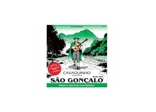 Imagem 1 de 3 de Encordoamento São Gonçalo Para Cavaquinho + Brinde