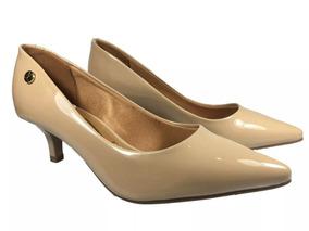 46712a1b13 Scarpin Vizzano Salto Bico Fino Bege - Sapatos no Mercado Livre Brasil