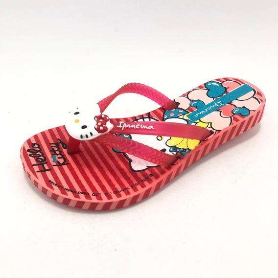 Ojota Roja Rayada Hello Kitty Pop - Ipanema