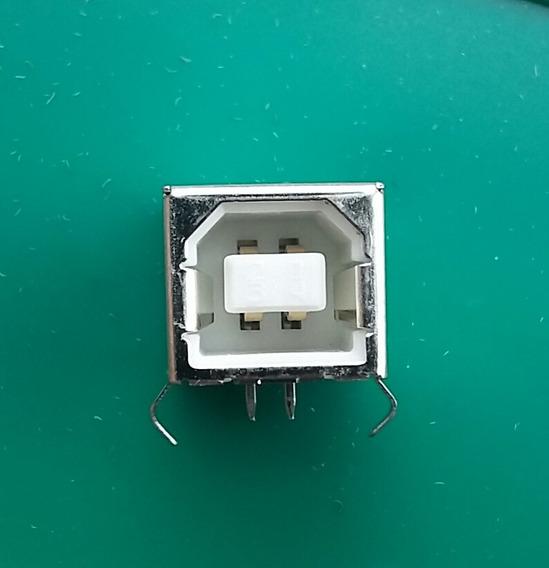 Conector Usb B Femea P/ Impressoras ( Kit C/ 5 Peças)