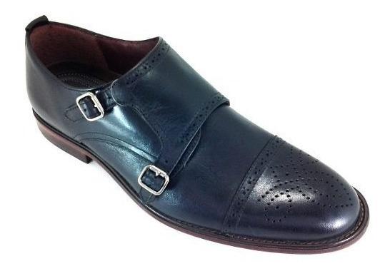 Zapatos Para Hombre Santini V610-02 Piel Texas Negro 5 Al 9.