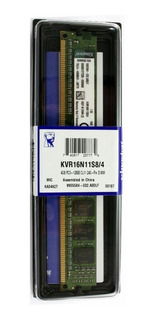 Memoria RAM 4 GB 1x4GB Kingston KVR16N11S8/4