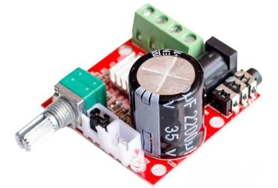 Kit Placa Amplificador Digital 15+15 30w Rms Módulo Potência