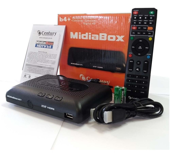 Receptor Midiabox Hdtv B4 Century C/ Conversor Digital