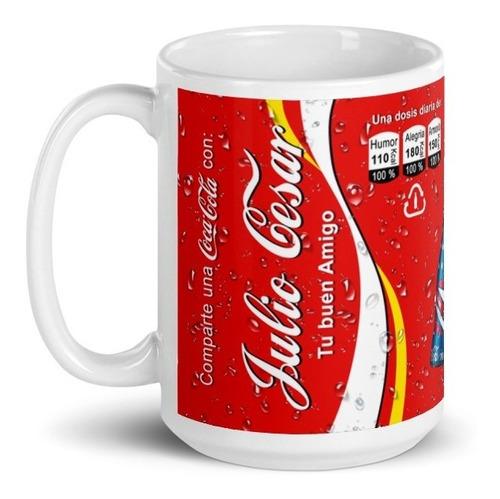 Imagen 1 de 4 de Taza Coca Cola Botellas Nombre Personalizado