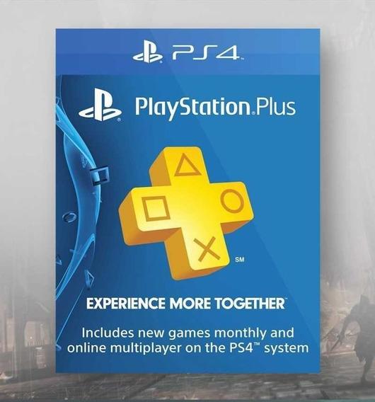 Cartão Psn Plus 12 Meses Playstation Ps4 Ps3 1 Ano Brasil
