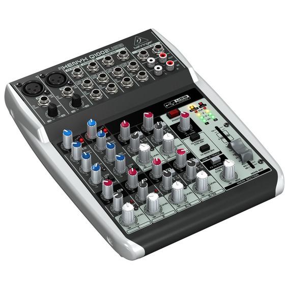 Mesa De Som Behringer Xenyx Q1002 Mixer 10 Canais Usb 110v