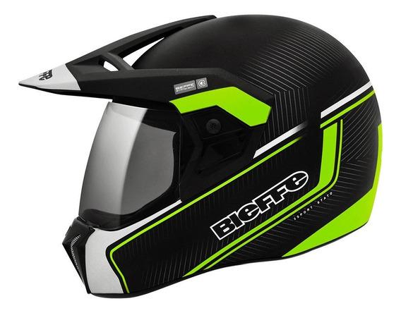 Capacete para moto integral Bieffe 3 Sport Stato verde XL