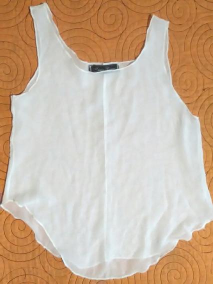 Musculosa Gasa Blanca María Lorre