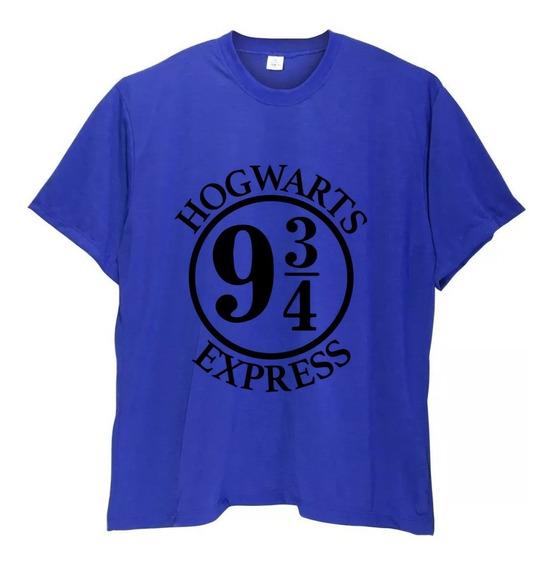 Camiseta Masculina Plus Size Harry Potter Hogwarts Até G6