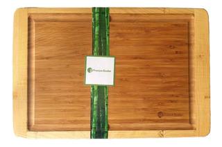 Tabla Premium De Bamboo / Bambu 46 X 30 Cm - Para Cocina