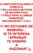 Clases Particulares Matemática Física Caba Belgrano Urquiza
