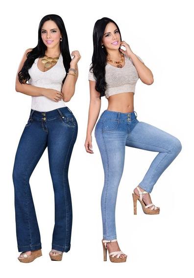 Jeans Levanta Cola X 2 Unidades Talles Especiales 48 Al 60