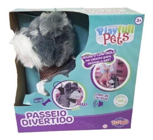 Imagem 1 de 3 de Playfull Cão Cinza Passeio Divertido Toyng Controle Remoto