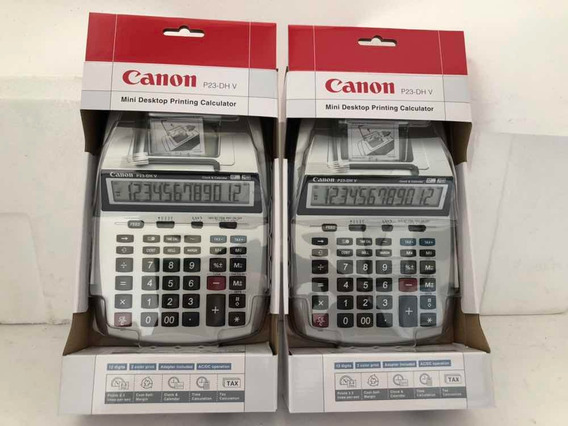 Calculadora 12 Digitos Canon P23dh Usa Rollo De Papel Bond