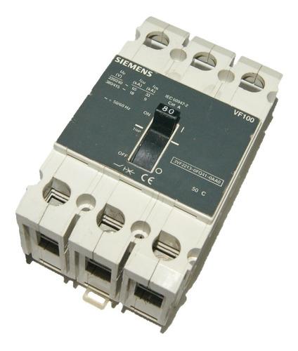 Breaker Trifasico 80amp Vf100 Siemens Cod. 01041