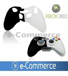 Protector Silicon Palanca Xbox 360 Blanc Negro Control Mando