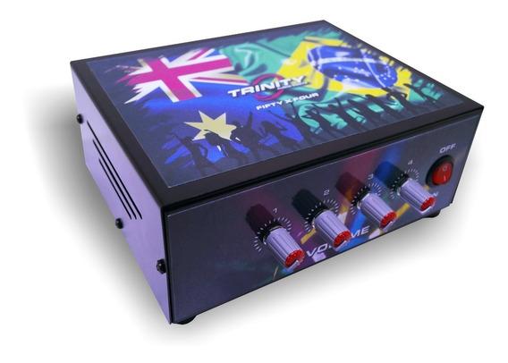 Amplificador Turbo Dance Trinity Fift-four 4x50wrms Som Casa
