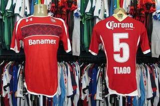 Toluca 2012 Camisa Titular Tamanho G Número 5 Tiago.