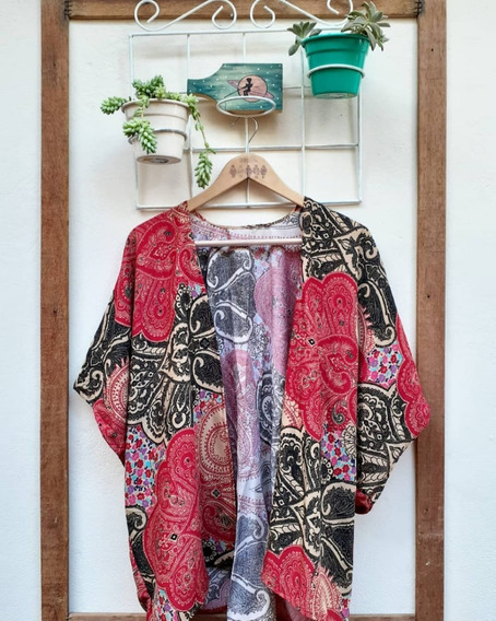 Kimono Artesanal Masculino Estampado Ou Liso