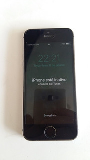 iPhone 5s A1533 Preto Com Tela De Broqueio