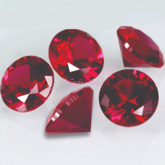 Rubi Pedra Preciosa / Cinco Pedrinhas De 4mm Cada / 1,5 Cts