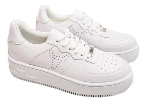 Zapatillas Estilo Air Force Blancas Talle 35 Al 40