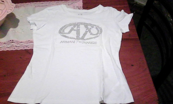 Remera Mujer Original Armani Exchange Talle M