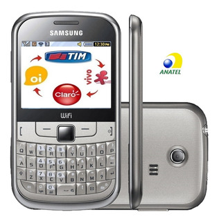 Celular Samsung Gt-s3350 (chat335), 2g, Simples, Nacional, Entrada Antena, Raridade, Anatel, Wifi, Rádio, Novo Na Caixa