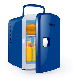Mini Refri Portatil Enfría Y Calienta Con Cargador Auto Azul