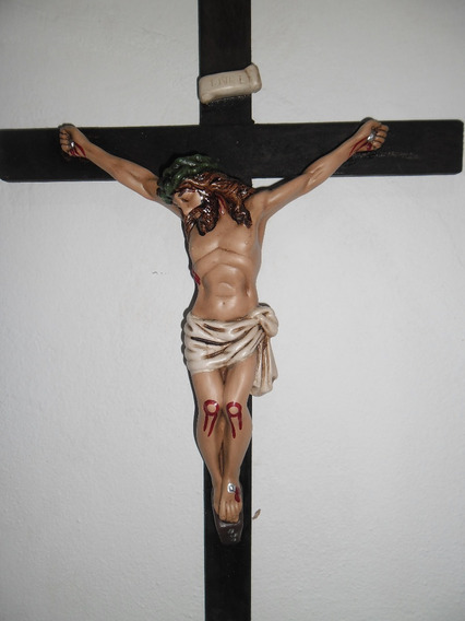 Crucifixo Grande De Parede 55cm De Altura Fino Acabamento