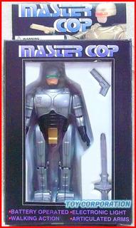 Master Cop Bootleg Knockoff Robocop En Caja Con Luz Y Camina