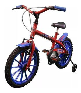 Bicicleta Vermelha - Azul Infantil Aro 16
