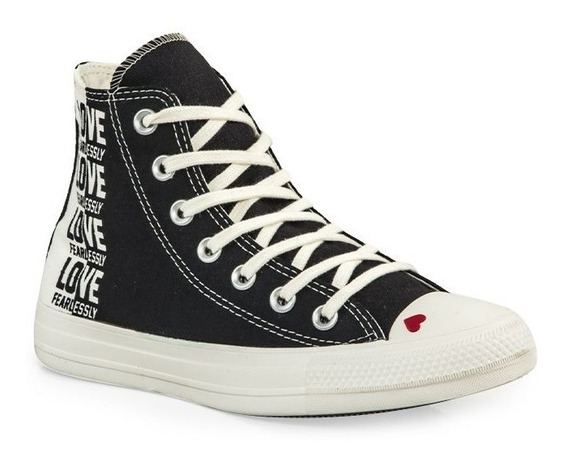 Botitas Converse All Star Love Negro Nueva Coleccion