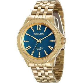 Relógio Seculus Feminino Long Life Original Nfe 28664lpsvda3