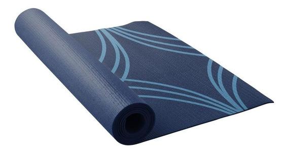 Tapete Para Ginástica Yoga E Pilates 3 Mm Cor Azul Lotus