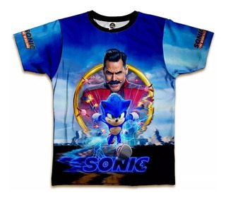 Camiseta Sonic Filme Estampa Total