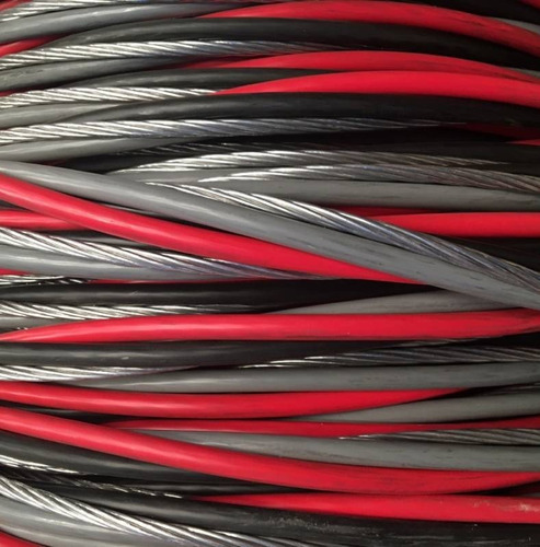 Imagem 1 de 4 de Quadruplex 50mm 4x50 Aluminio Rede Eletrica Com 160 Metros