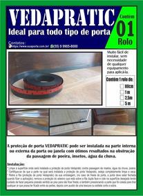 Vedador De Frestas De Porta 2,5 Cm Vedapratic (7,5 Mt)
