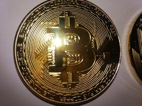 Bitcoin Moeda Física Dourada