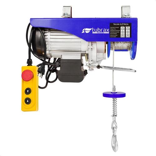 Talha Elétrica Guincho 1250w 127v 350/700 Kg Elevação 6/12 M