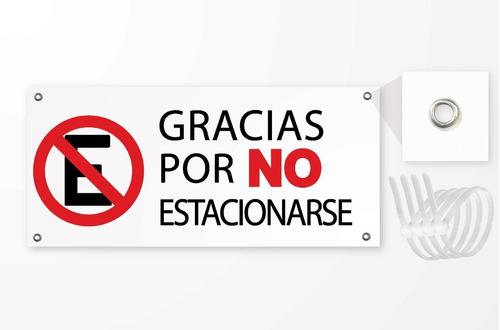 Imagen 1 de 1 de Letrero Señal Gracias Por No Estacionarse, Plastico