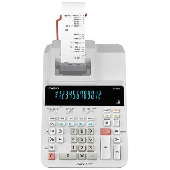Calculadora Com Impressora Casio Dr-210r-we Frete Gratis