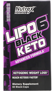 Lipo 6 Black Keto 60 Caps Nutrex Importado Eua
